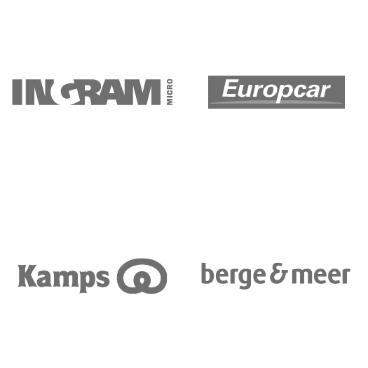 Logos: Ingram Micro, Europcar, Kamps, Berge & Meer